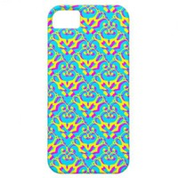 iPhone 5 CMYK damask pattern iPhone 5 Case from Zazzle.com