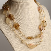 Handmade Quartz Wire Wrapped Necklace Handmade 33 inches83.82 cm | peaceloveandallthingsjewelry - Jewelry on ArtFire