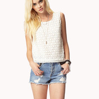 Crocheted Chiffon Top | FOREVER 21 - 2027691508