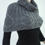 Snow Diamond - Dark Grey CAPELET/ PONCHO