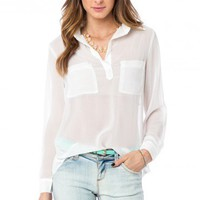 Meryl Blouse in Ivory - ShopSosie.com