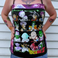 Dragon Ball Z Corset shirt S/M/L DiY Geek Goku Vegita Trunks Galaxy