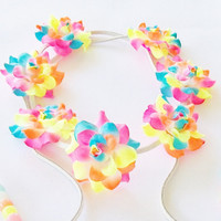 Neon Rose Festival Headband by Lucky Girl