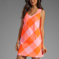 Marc by Marc Jacobs Stacey Check Dress in Shocking Orange Multi from REVOLVEclothing.com