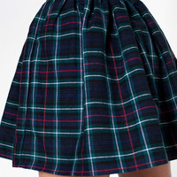 American Apparel - Plaid Full Woven Skirt