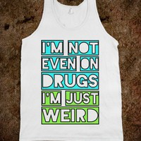 Just Weird (Neon) - lolz on top of lolz - Skreened T-shirts, Organic Shirts, Hoodies, Kids Tees, Baby One-Pieces and Tote Bags