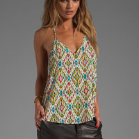 Rory Beca Luna Sequin T Back Cami in Poncho from REVOLVEclothing.com
