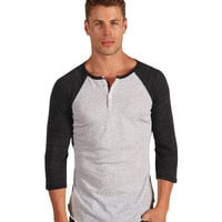 Alternative Apparel Eco-Heather 3/4 Raglan Henley