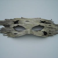 Birch bark mask by wingandtalon on Etsy