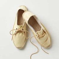 Anthropologie - Linen Lace-Up Espadrilles