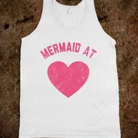 Mermaid At Heart (Tank) - The Pyramids - Skreened T-shirts, Organic Shirts, Hoodies, Kids Tees, Baby One-Pieces and Tote Bags