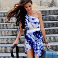 Blue Mini Dress - Tulip | UsTrendy