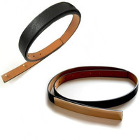 Coveted Gold Metal Plated Skinny Belt - Black -  $25.00 | Daily Chic Accessories | International Shipping