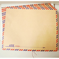 Brown Airmail Envelope