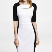 PEEKABOO SHEATH DRESS