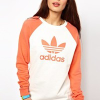 Adidas Fun Sweater Logo Sweater at asos.com