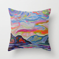 Lake Okanagan From Peachland Throw Pillow by Morgan Ralston
