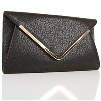 Black Plated Envelope Bag