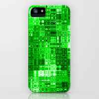 Circuitry iPhone & iPod Case by Alice Gosling