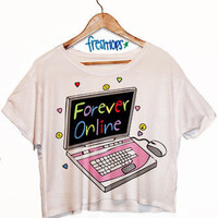 Forever Online Crop Top | fresh-tops.com