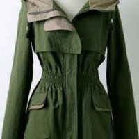 The Most Wearable Green Army Hooded Jacket