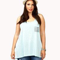 Pyramid Studded High-Low Tank