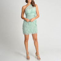 Xscape Women's One Shoulder Petal Skirt Party Dress | Overstock.com