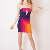 Bright Colorblock Dress - Dresses