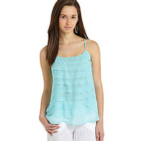 Takara Tiered Ruffle Tank | Dillards.com