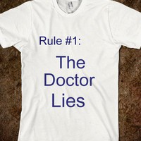 The Doctor Lies - ALL THE RANDOMS - Skreened T-shirts, Organic Shirts, Hoodies, Kids Tees, Baby One-Pieces and Tote Bags