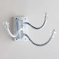 White 3-Prong Foldable Hook