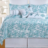 Cora Blue Deluxe Bedding Set | OceanStyles.com