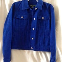 Ralph Lauren Blue Cotton Denim Style Jacket - Size XS