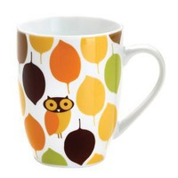 Amazon.com: Rachael Ray Dinnerware Little Hoot Mug Set, 4-Piece: Kitchen & Dining