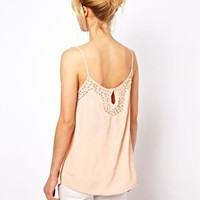Mango Heavily Beaded Cami Top at asos.com