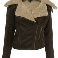 Faux Sheepskin Flying Jacket - UK Sale & Offers