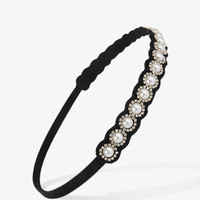 Pearlescent Rhinestone Headband