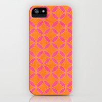 rings - pink and orange iPhone & iPod Case by her art