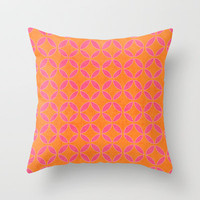 rings - pink and orange Throw Pillow by her art