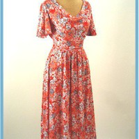 1970s Vintage Dress-70s Vintage Clothing-70s Dress
