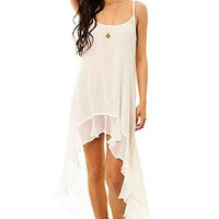 RVCA Maxi Dress Mogador Crinkle Gauze in Vintage