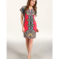 Laundry by Shelli Segal Drop Sleeve Printed Dress