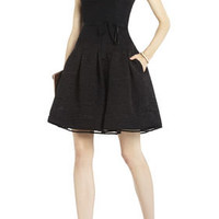 DELPHINE PLEATED CUTOUT-BACK DRESS