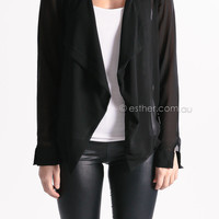 slow dance jacket - black at Esther Boutique