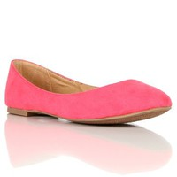 Pink Lemonade Basic Round Toe Flats