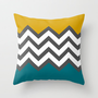 Color Blocked Chevron Throw Pillow by Josrick