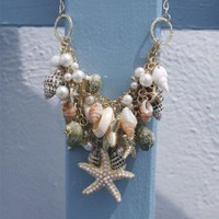 Conch Starfish Pearl Necklace - Retro, Indie and Unique Fashion