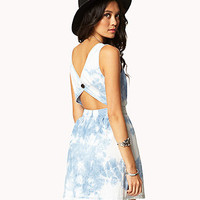Cutout Tie-Dye Chambray Dress | FOREVER 21 - 2027706303