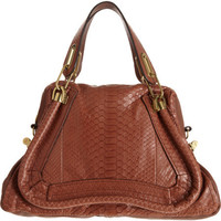 Chlo Python Medium Paraty Satchel at Barneys.com