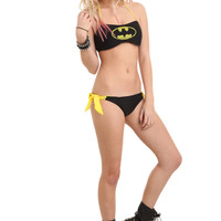 DC Comics Batman Reversible Bandeau Swim Top | Hot Topic